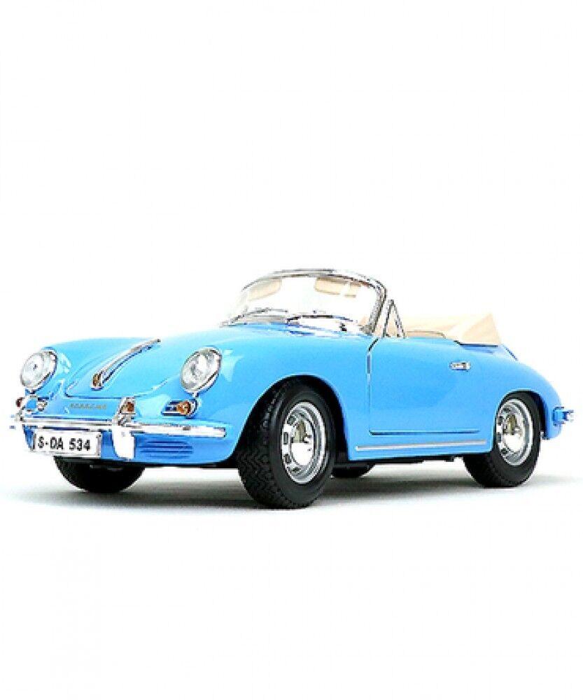 Nouveau blago échelle 1 18 1961 Porsche 356 B CABRIOLET Bleu Voiture Modèle Japon