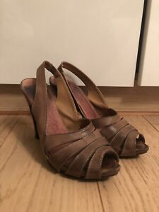Bertie, Brown Leather Sandals, Size 5