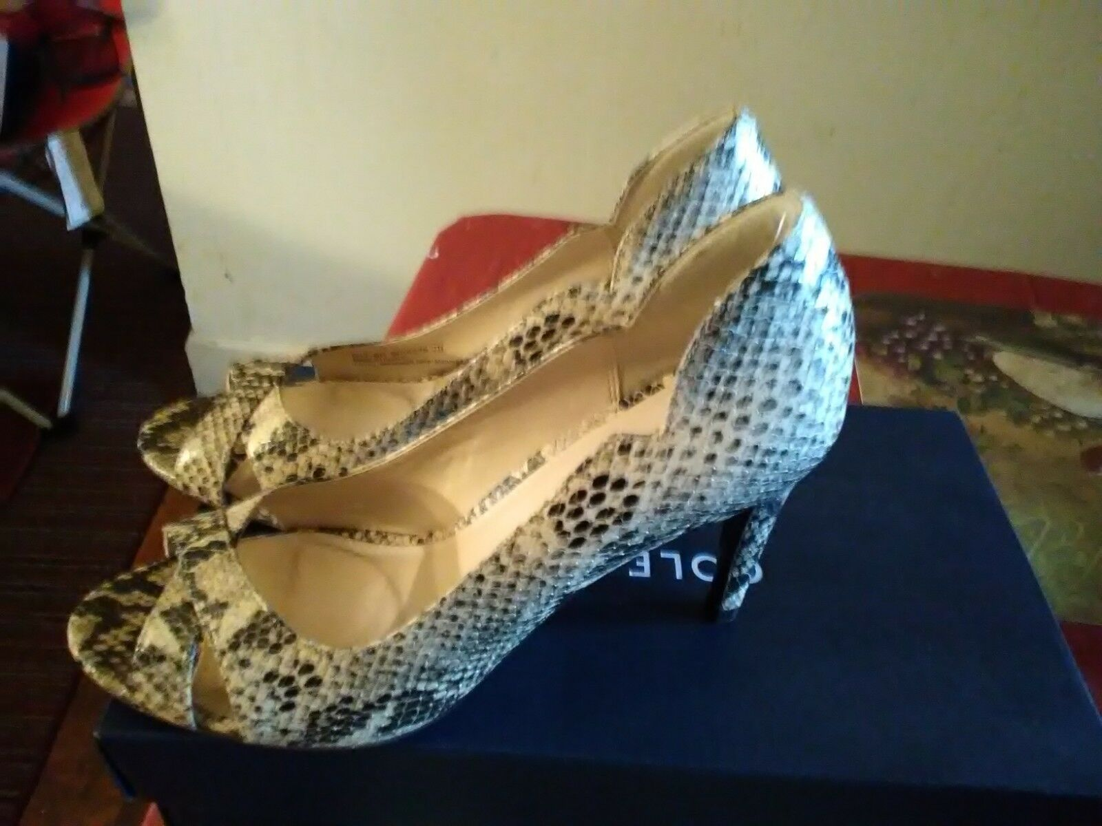 New Cole Haan Wouomo Jacinda Peep -Toe Snake push Dimensione  7  risparmiare fino all'80%