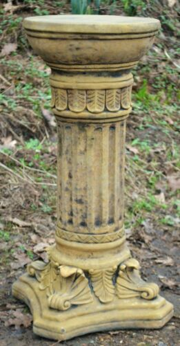 not inc Corinthian style column reconstituted stone plinth 56cm H for a statue