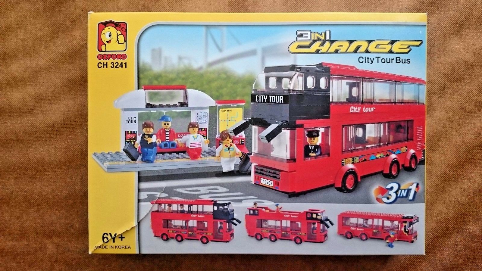 3 in 1 Change City Tour Bus by Oxford (CH3241) New and Sealed