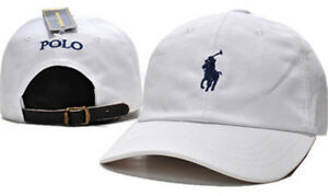 Pony-Polo-Adjustable-Leather-Strap-Back-Fine-Embroidery-Baseball-Golf-Hats-Cap