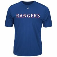 Majestic Mlb Texas Rangers Team T-shirt Royal