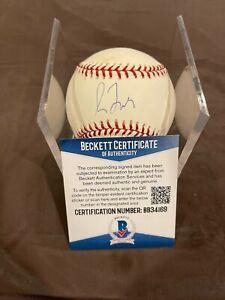HOFer Greg Maddux Cubs/Braves Autographed Baseball w/Beckett COA