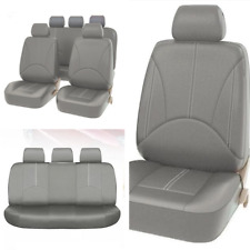 9pcs Set Gray Leather Car Seat Cover Front Rear Interior High Quality Breathable Fits 1999 Mitsubishi Mirage