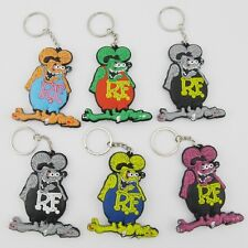 Set of 7 Rat Fink PVC key Chains With 7 Colors  Keyring Funny Birthday Gift New