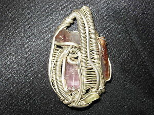 Handmade-Wire-Wrapped-Pendant-Sterling-Silver-Artisan-Talisman-Metaphysical