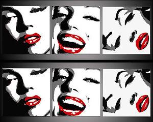 QUADRI-POP-ART-marilyn-OLIO-SU-TELA-120x40cm-quadro-MISURE-ANCHE-SU-RICHIESTA