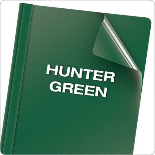 55856 Hunter Green 25 per Box Letter Size Oxford Clear Front Report Covers