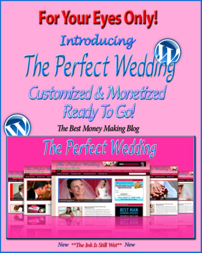Wedding Blog Self Updating Website Clickbank Amazon Adsense Video /& News Pages