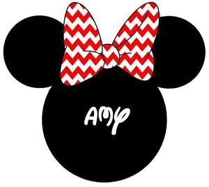 02dda0b87 Disney Mickey Minnie Mouse Personalized T-shirt Iron on Transfer