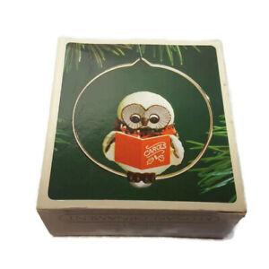 Hallmark-Keepsake-Christmas-Ornament-Caroling-Owl-1983-Box-Bird