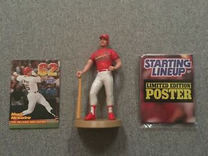 Mark McGwire 1999 Opened Starting Line Up Figure & Card & Poster