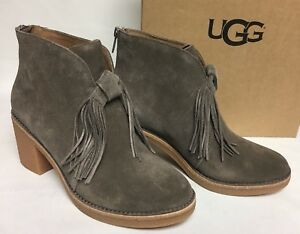 cfae2cb3013 Details about UGG Australia Women's Corin Boot Fringe Tassel Mouse Suede  sizes 1018642