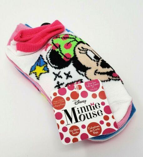 Minnie Mouse Girls 5-Pair Socks M 7.5-3.5