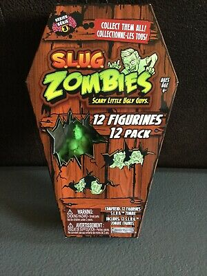 Nouveau Jakks Pacific Slug Zombies Series 4 Pack de 12 Figures Toy Set Coffin FP20