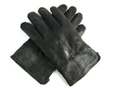 Femme nouveau super doux original en cuir noir entièrement doublé gants