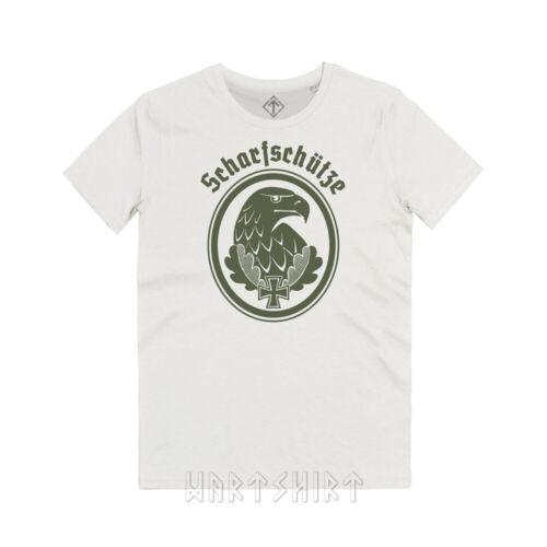 Maglietta Tiratore Scelto Sniper/'s Badge WK2 Wehrmacht Scharfschüetzen T-Shirt
