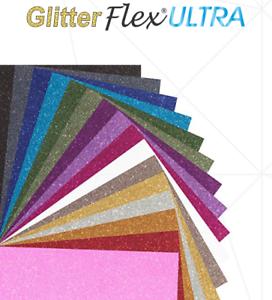 Iron on glitter flex sheet