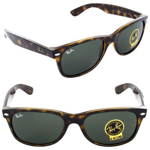 Ray-Ban RB 2132 902 52mm New Wayfarer Sunglasses Tortoise / Crystal Green Lens