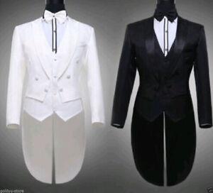 33642eecc6d Image is loading Tailcoat-Groom-Tuxedos-Man-Groomsmen-Men-Wedding-Suits-