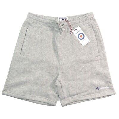 Mens Lambretta Logo Relaxed Fit Jogger Sweat Fleece Shorts Lm 3067 - Grey Marl StraßEnpreis