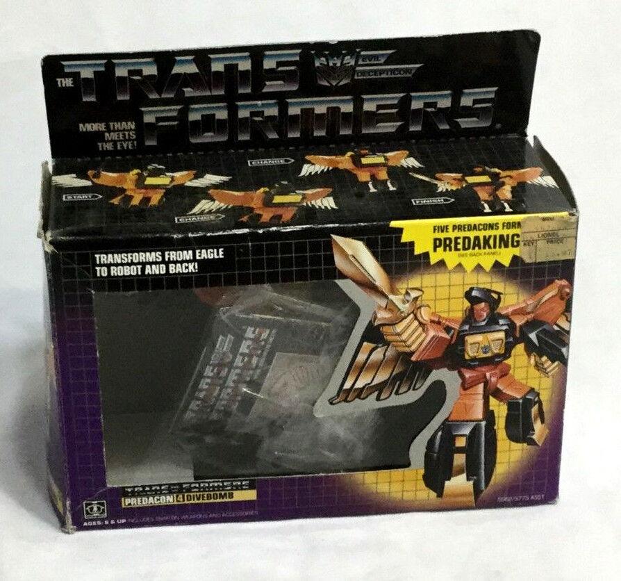 1987 Vintage G1 Transformers Predacon Divebomb Boxed Complete Booklet FREESHIP