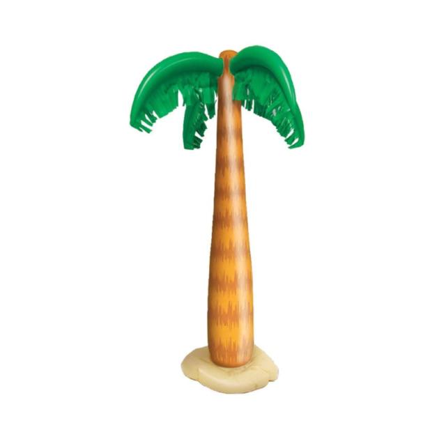 INFLATABLE PALM TREE BLOW UP HAWAII SUMMER LUAU BEACH PARTY FANCY DRESS 90CM BN