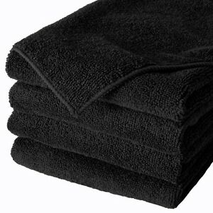 "96 Microfiber Professional 16/""x24/"" Detailing Towels Auto Polishing Cloths Black"