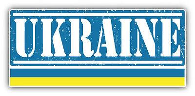 """Ukraine Grunge Travel Stamp Car Bumper Sticker Decal 6/"""" x 3/"""""""