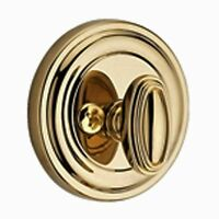Baldwin Traditional Round Patio Deadbolt - Multiple Finishes