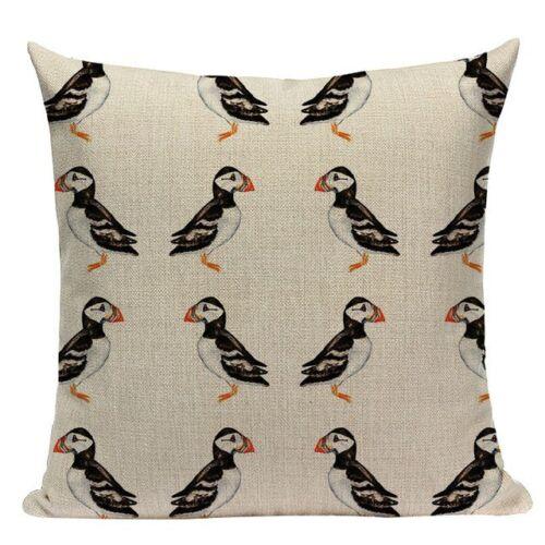 moderne en toile coton oiseaux Macareux Housse de coussin Nautique bord de mer