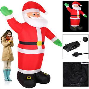 Pere-Noel-gonflable-XXL-decoratif-lumineux-fete-Noel-250cm-pompe-electrique