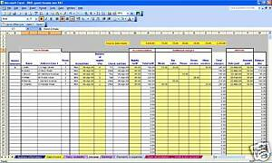 B b or guest house non vat bookkeeping spreadsheet for Guest house business plan template