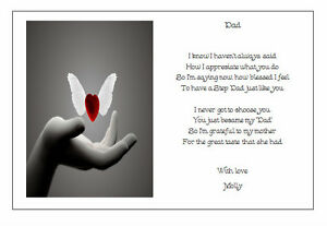 Image Is Loading Personalised Fathers Day To Your Step Dad Poem