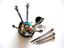 miniature 6 - 9pc Screwdriver set Rotating Stand Watchmaker Jewelry repair Hobby tool USA ship