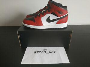 Nike Air Jordan 1 Mid Chicago Black Toe (GS) - US 4.5Y / UK 4 / EUR 36.5 -