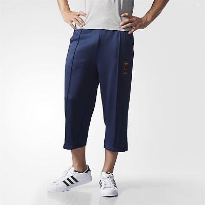 Adidas Originals Budo Jambe Large Cropped bas jogging bleu marine homme Rare Deadstock   eBay