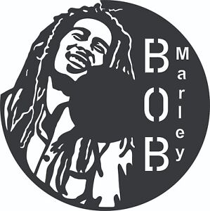 Details about DXF Files CNC Plasma Router Laser Cut Ready To Cut - Bob  Marley - Vinyl Clock