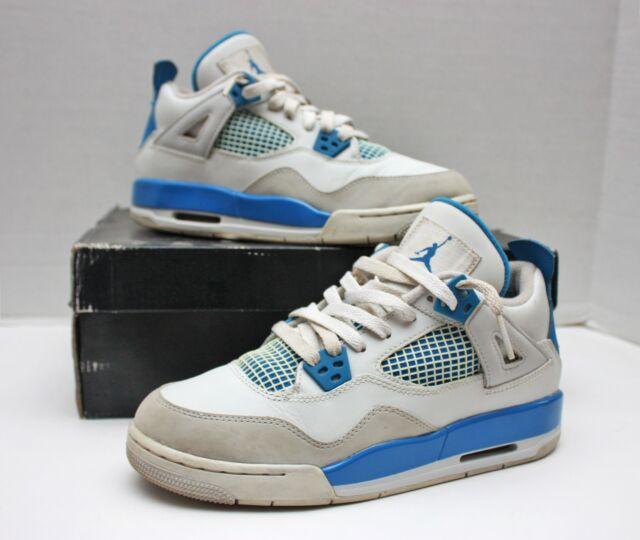 big sale fe567 8b261 Nike Air Jordan 4 IV Retro Size 6y - Blue White Grey - 408452 105