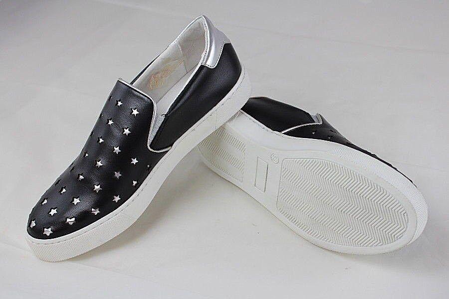 la vostra soddisfazione è il nostro obiettivo Alba Moda Da Donna Slipper Slipper Slipper scarpe da ginnastica Pelle Nero Bianco Stella Di Stampa Taglia 38 39 40 G x35  disponibile
