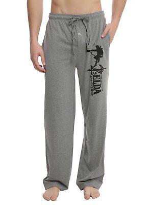 The Legend of Zelda Breath Of The Wild Mens T-Shirt and Lounge Pants Pyjama Set