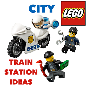 LEGO✨City Police Patrol Bike Train Town Railway Station 60197 60198 GIFT TOYS
