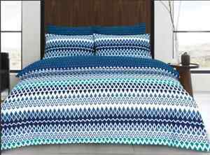 Gene-Digital-Teal-Bed-Quilt-Cover-Sets-Queen-amp-King-Available