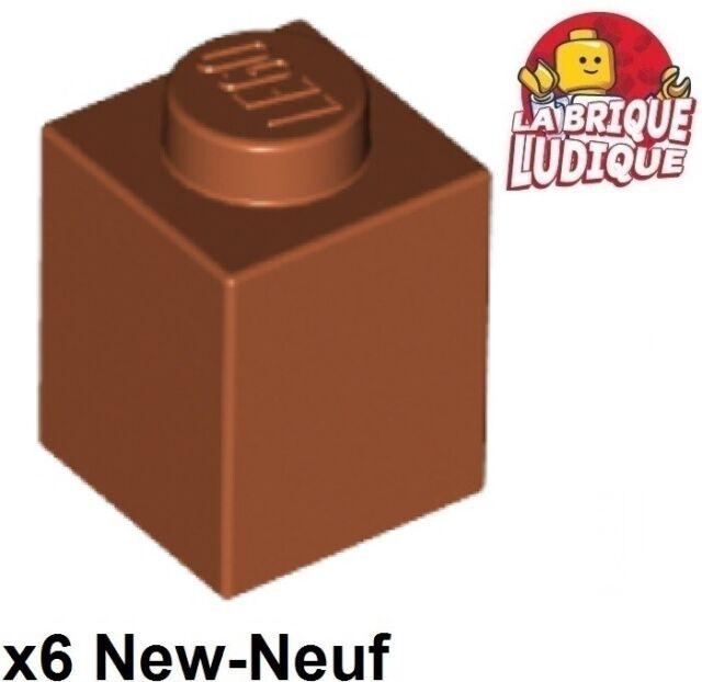 LEGO Dark Red Brick 1x1 Lot of 100 Parts Pieces 3005