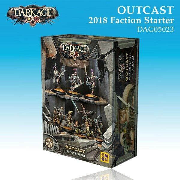 Dark Age Outcast Faction Starter 2018 box miniature 32mm new