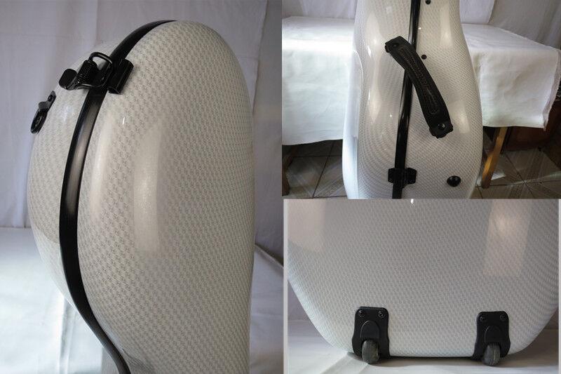 Elástico blancoo de alta calidad material compuesto fibra de de de Carbono Cello caso 4 4  con 60% de descuento