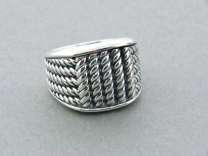 DAVID-YURMAN-MARITIME-5-ROPE-WIDE-3-SIDED-RING-SIZE-9-1-2