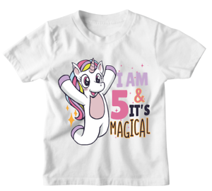 Personalised unicorn birthday girls t shirt. Perfect funny cool gift for kids