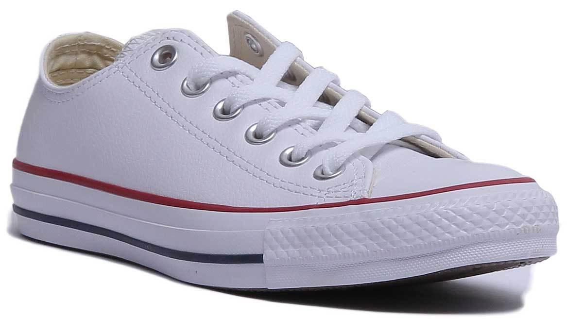 ... Converse All Bianco Star Ox Classico Unisex in Pelle Bianco All scarpe  da ginnastica 1072ee ... 9953bfc5c0e